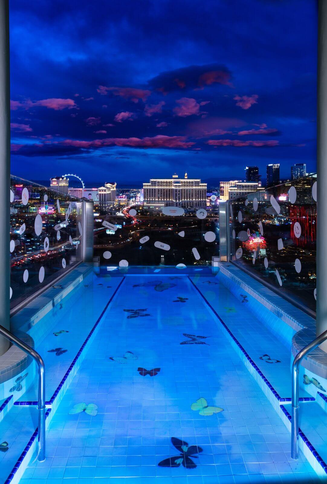lujosa suite diseñada por Damien Hirst en Las Vegas