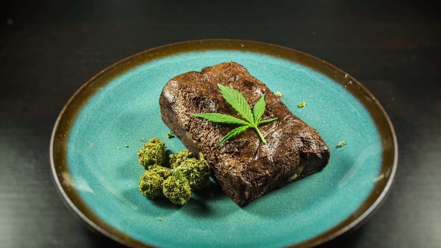qué es el THC, brownie de marihuana