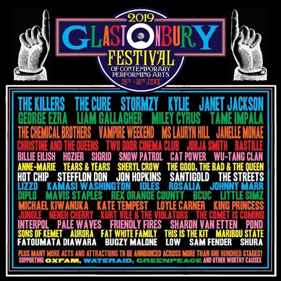 Cartel Glastonbury 2019