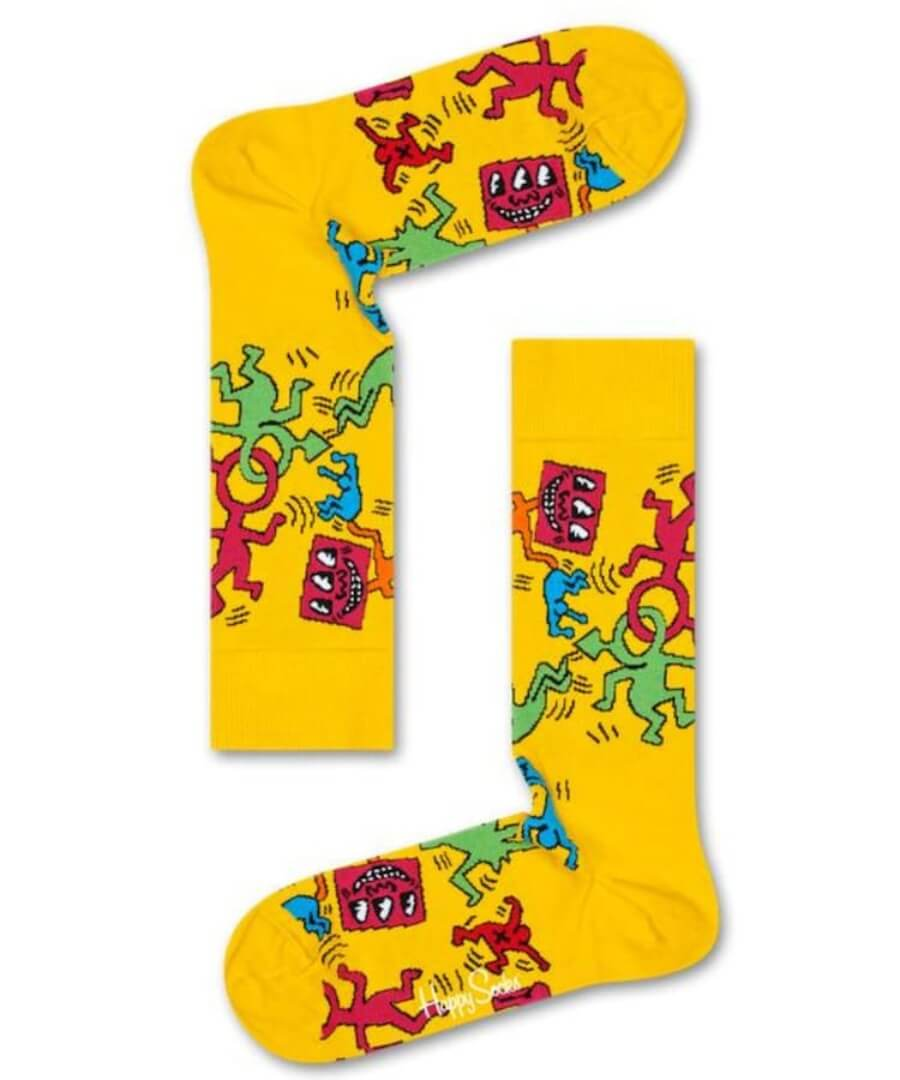 Happy Socks rinden tributo a Keith Haring