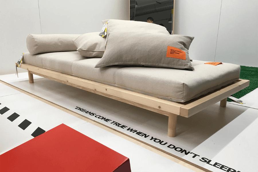 Almohada colaborativa de Ikea x Off White