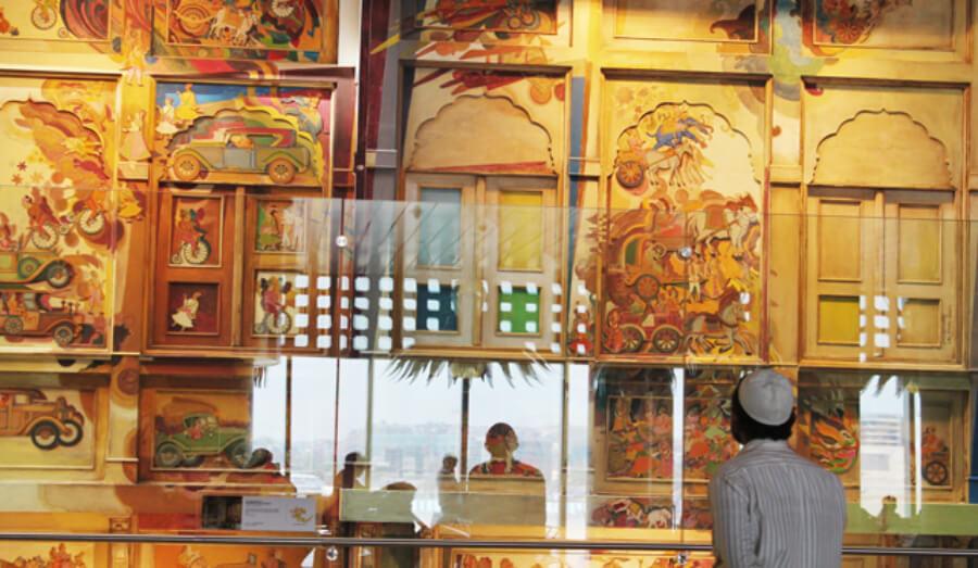 museo de arte en aeropuerto de Mumbai
