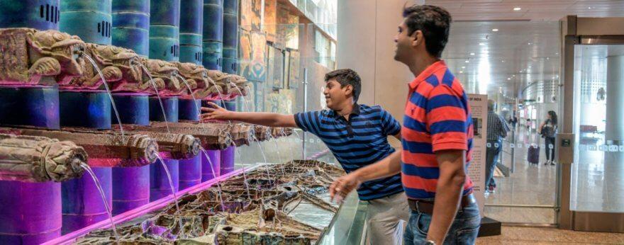 Gran museo de arte en aeropuerto de Mumbai