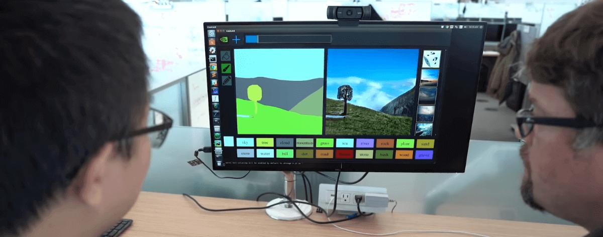 Nvidia lanza software que convierte bocetos a paisajes