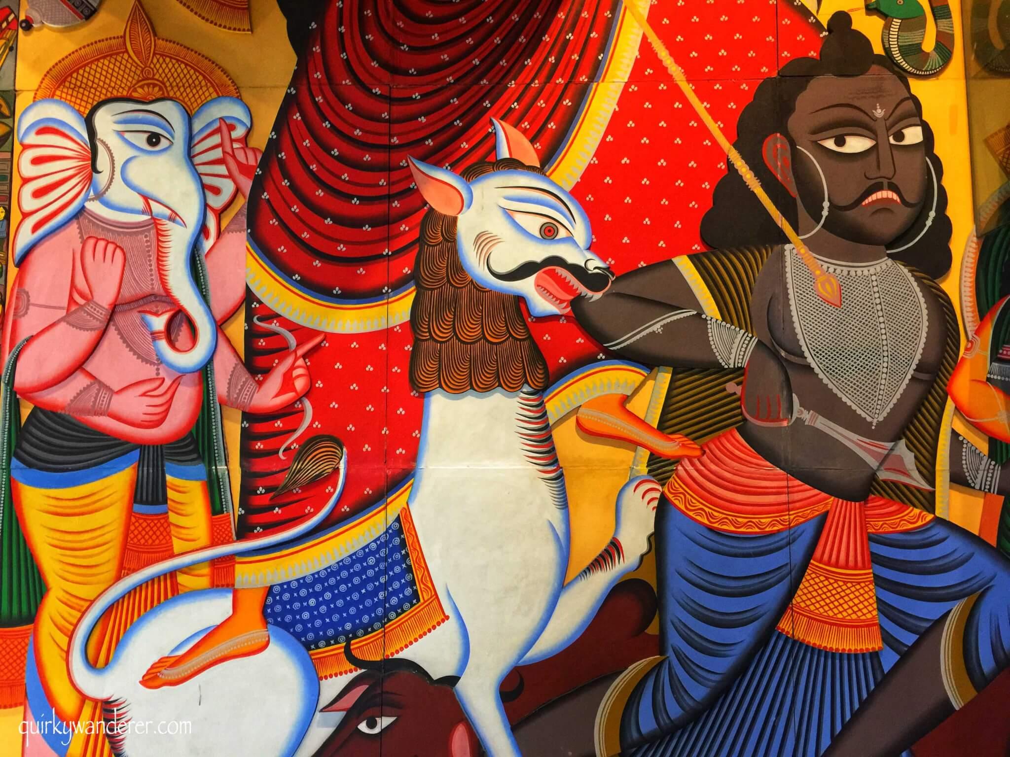 pintura en el museo de arte del aeropuerto de Mumbai