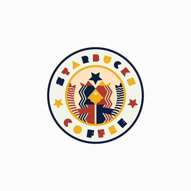 logotipo de starbucks a lo bauhaus