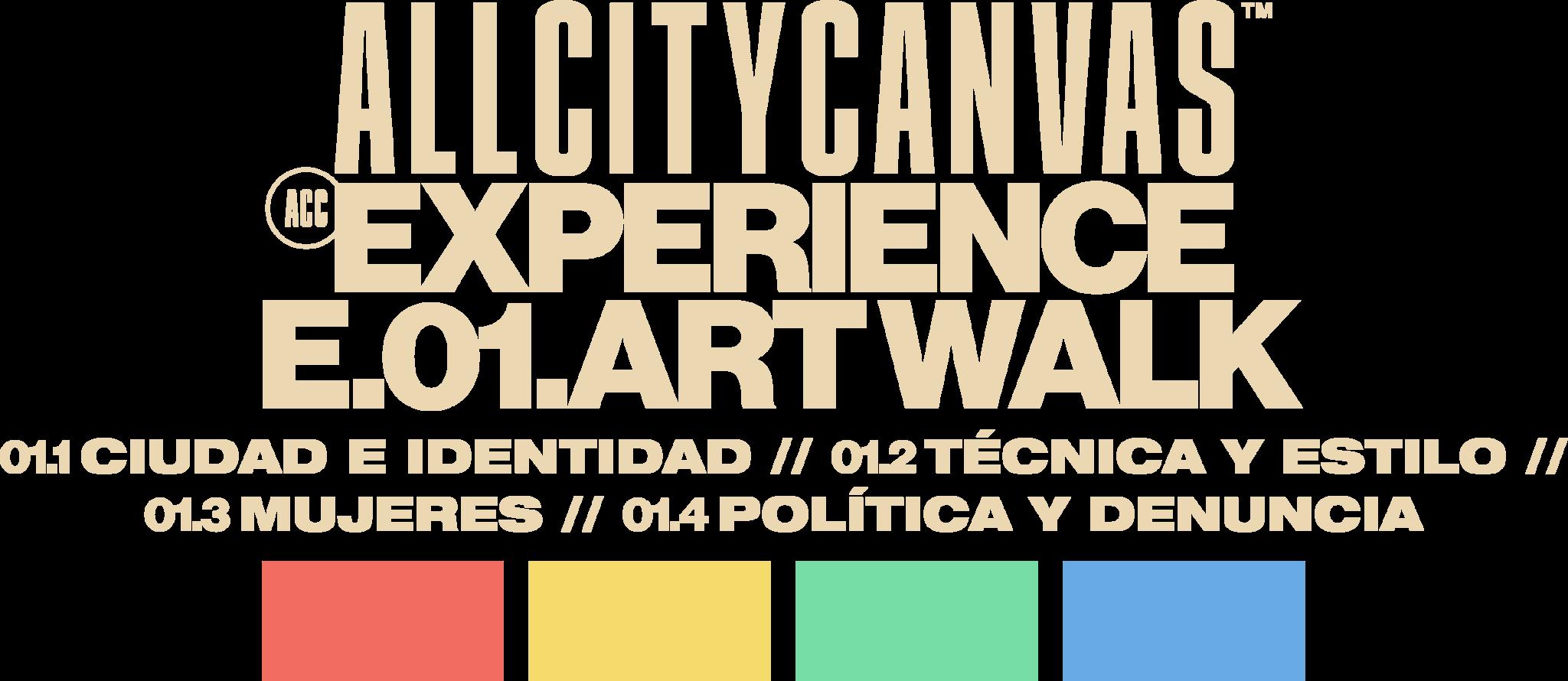 A.C.C.E.01 Experience Artwalk Guide tour