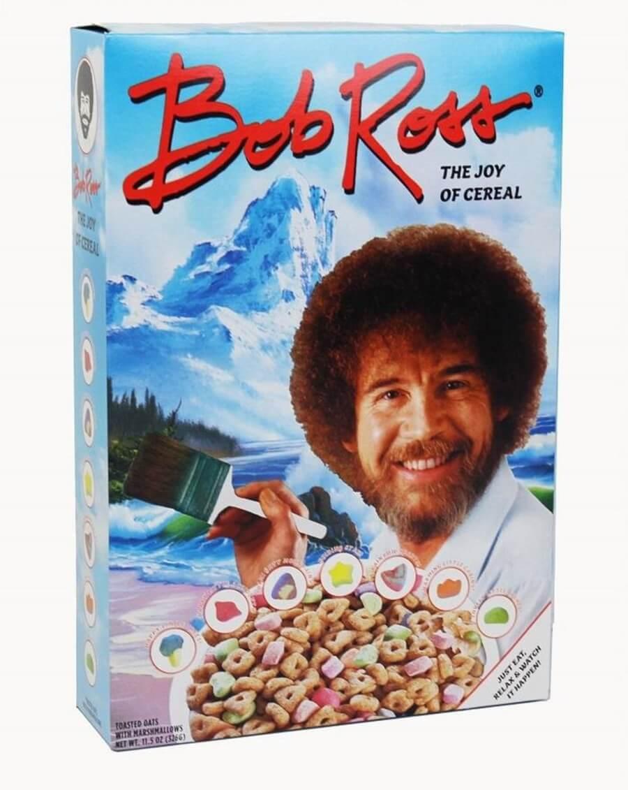 Bob Ross ya tiene nuevo cereal