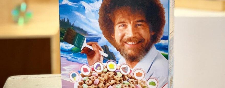 Bob Ross ya tiene un nuevo cereal