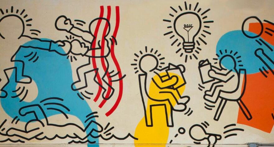 La historia de cómo se salvó este mural de Keith Haring