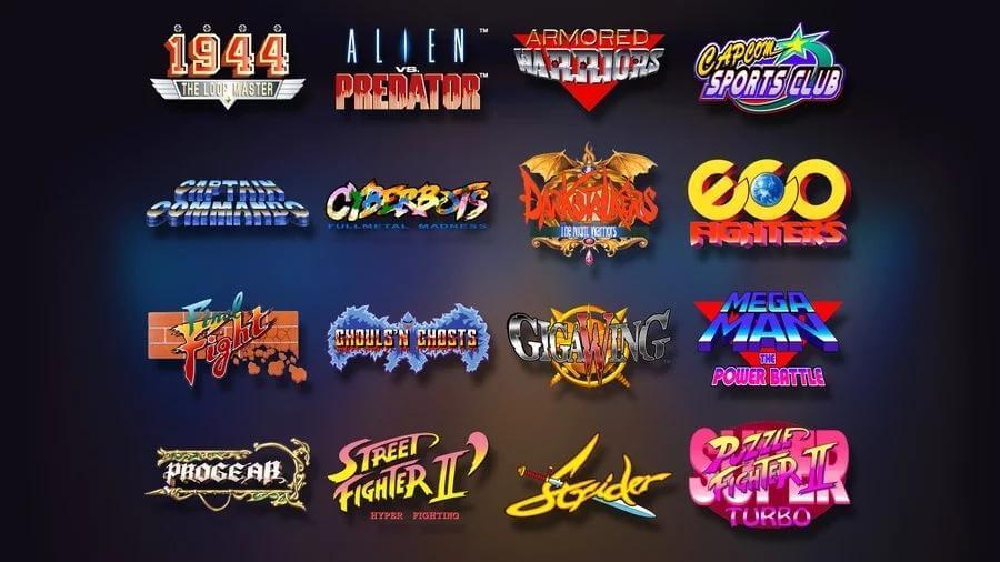 Juegos de de la Capcom Home Arcade