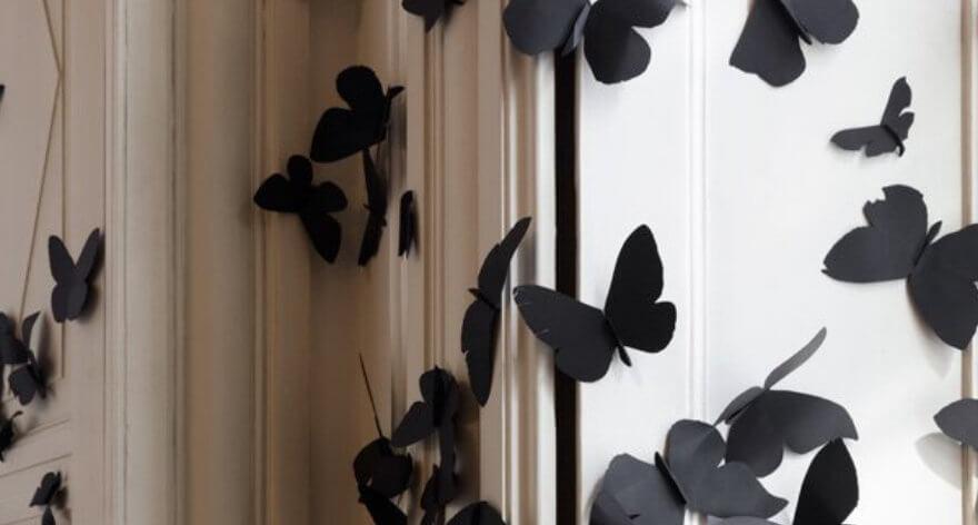 Instalación con miles de mariposas en un rincón de Milán