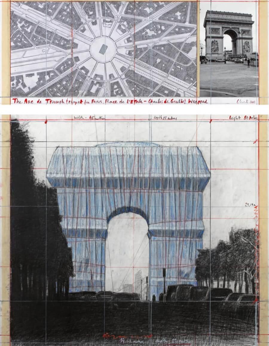 Christo envolverá el Arco del Triunfo