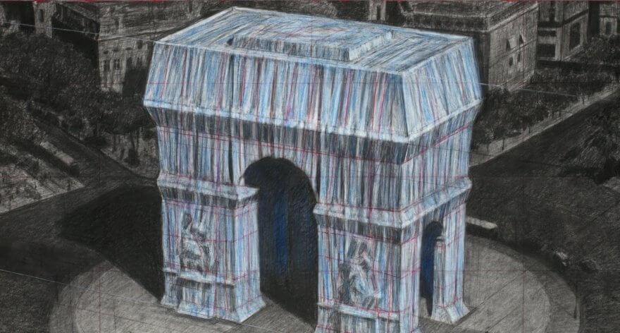 Christo envolverá el Arco del Triunfo en París con tela