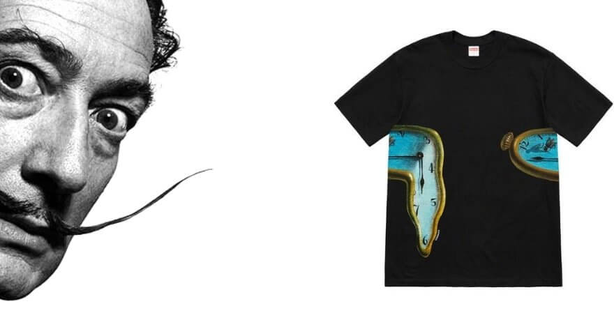 Nuevas camisetas de Supreme tienen a Salvador Dalí