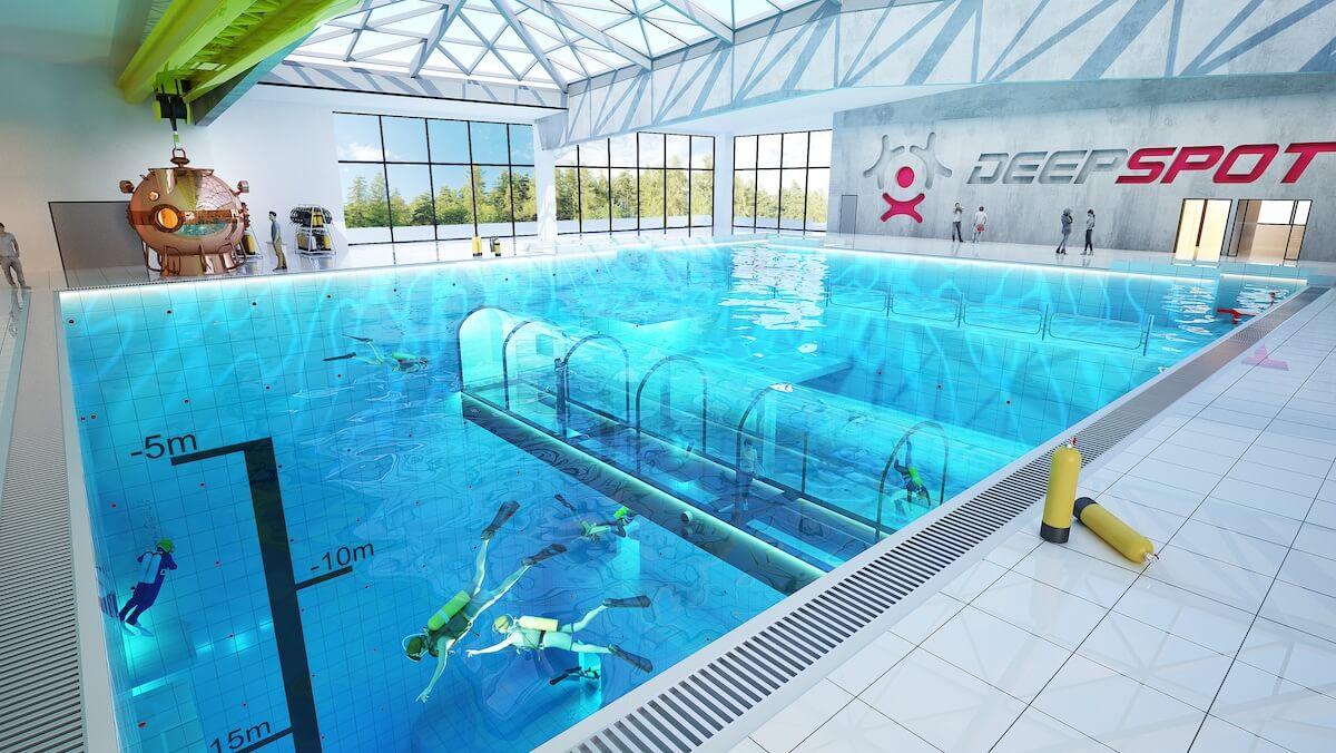 piscina más profunda estará en Polonia