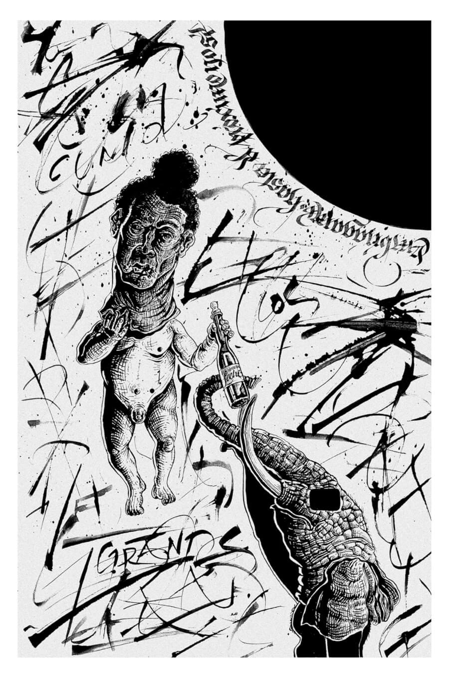 Eduardo Aire en los Lettering Nights ACC