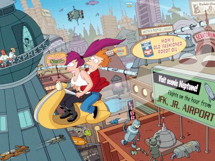 Ilustración de serie Futurama
