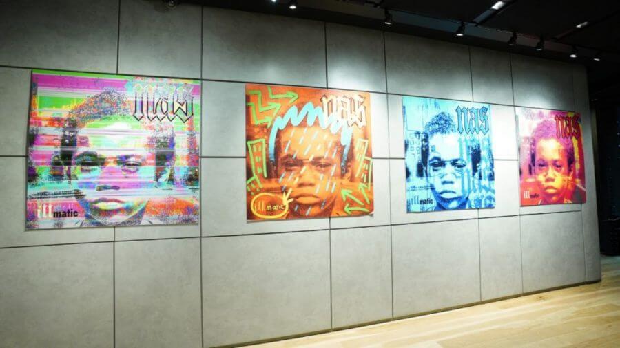 Exhibición Illmatic XXV de NAS en Sony Square