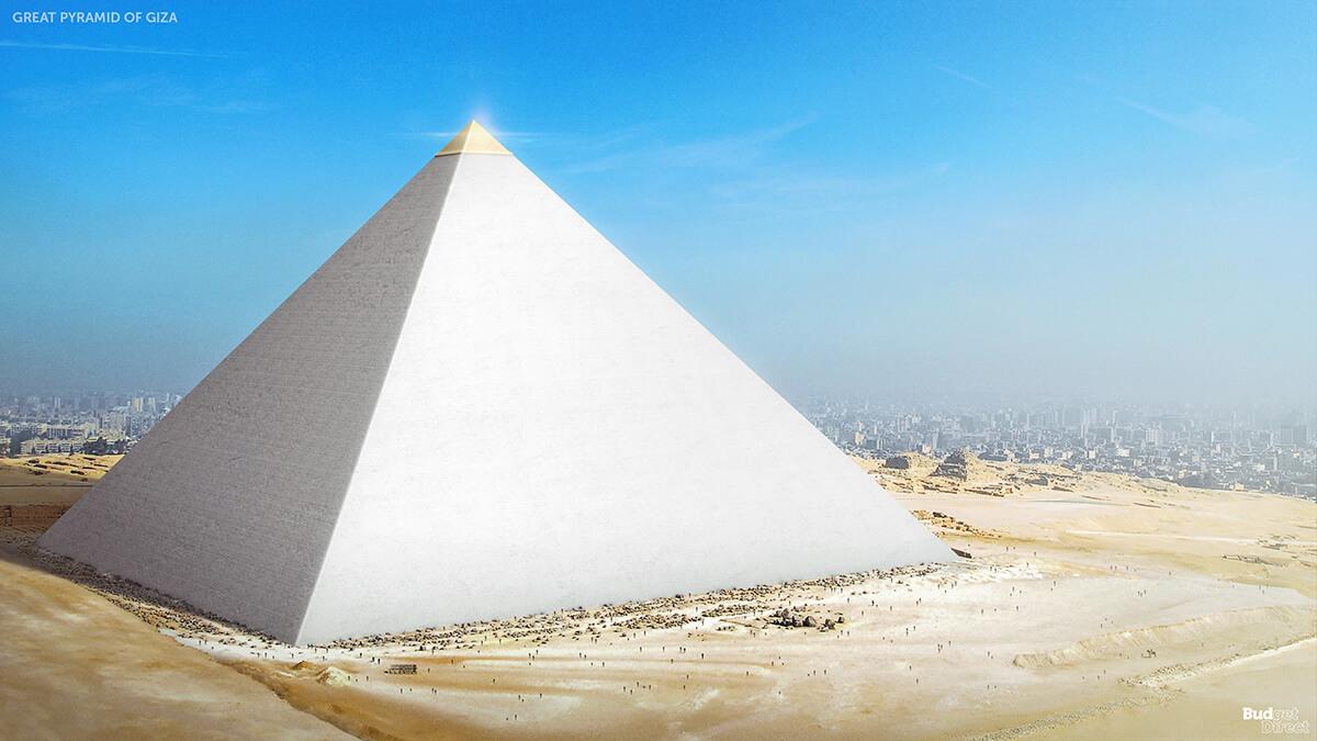 Imagen de la pirámide de Guiza