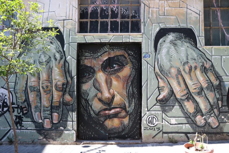 obra de street art de WD