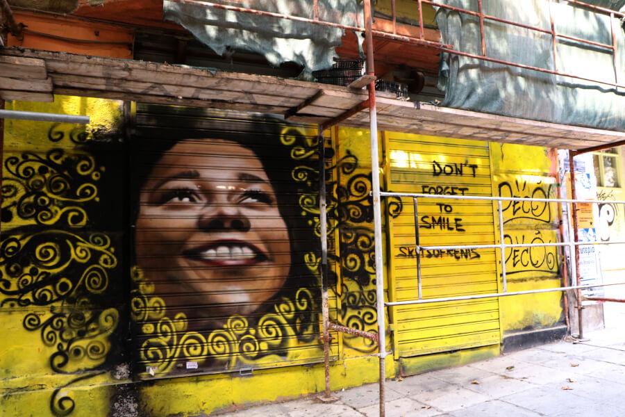 graffiti en Atenas