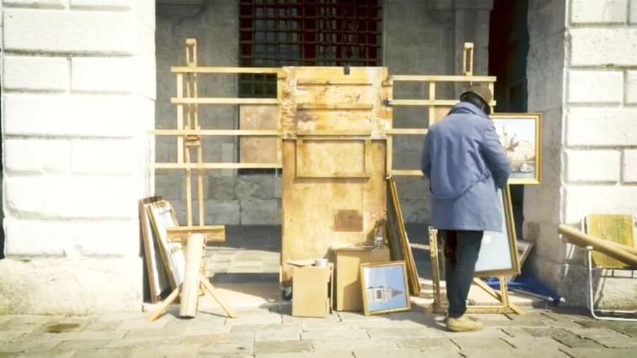 Banksy aparece con instalación en Venecia