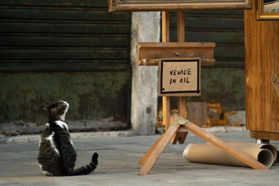 Banksy aparece con obra en Venecia