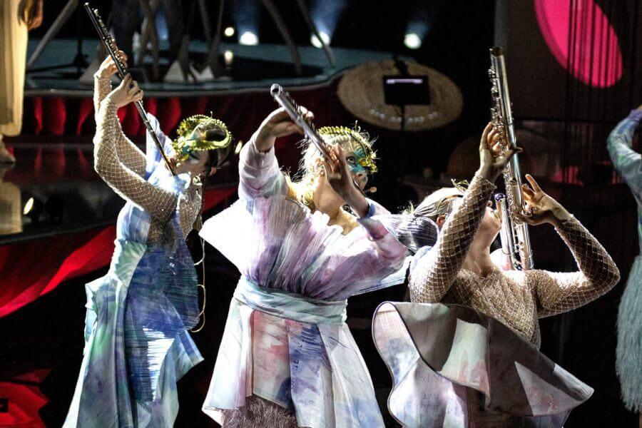 Fotografía del show Cornucopia de Björk
