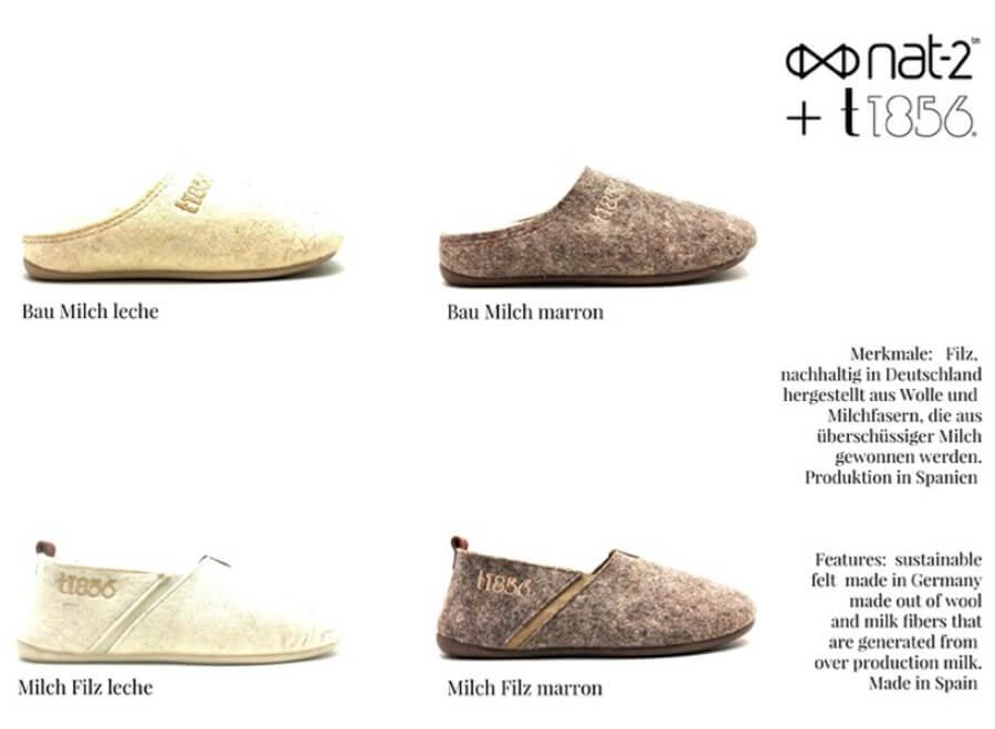 El nuevo calzado hecho de leche