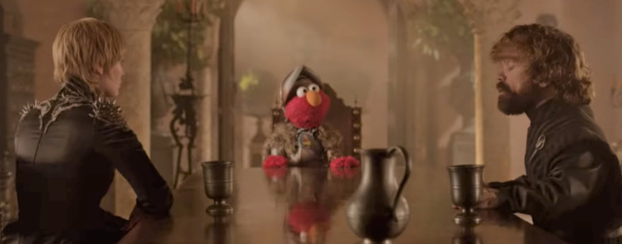 Elmo en Game of Thrones y otras series