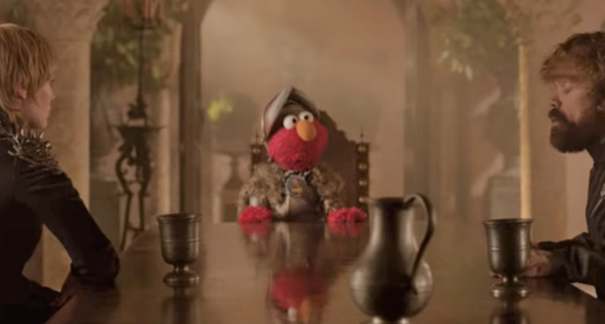 Elmo en Game of Thrones y otras series
