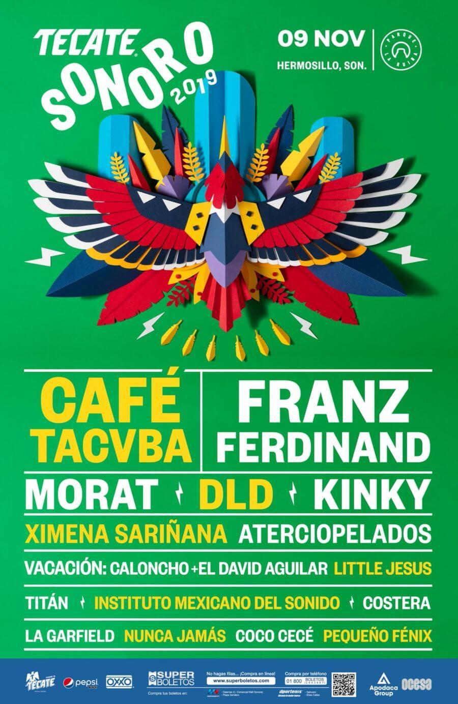 cartel del Festival Tecate Sonoro