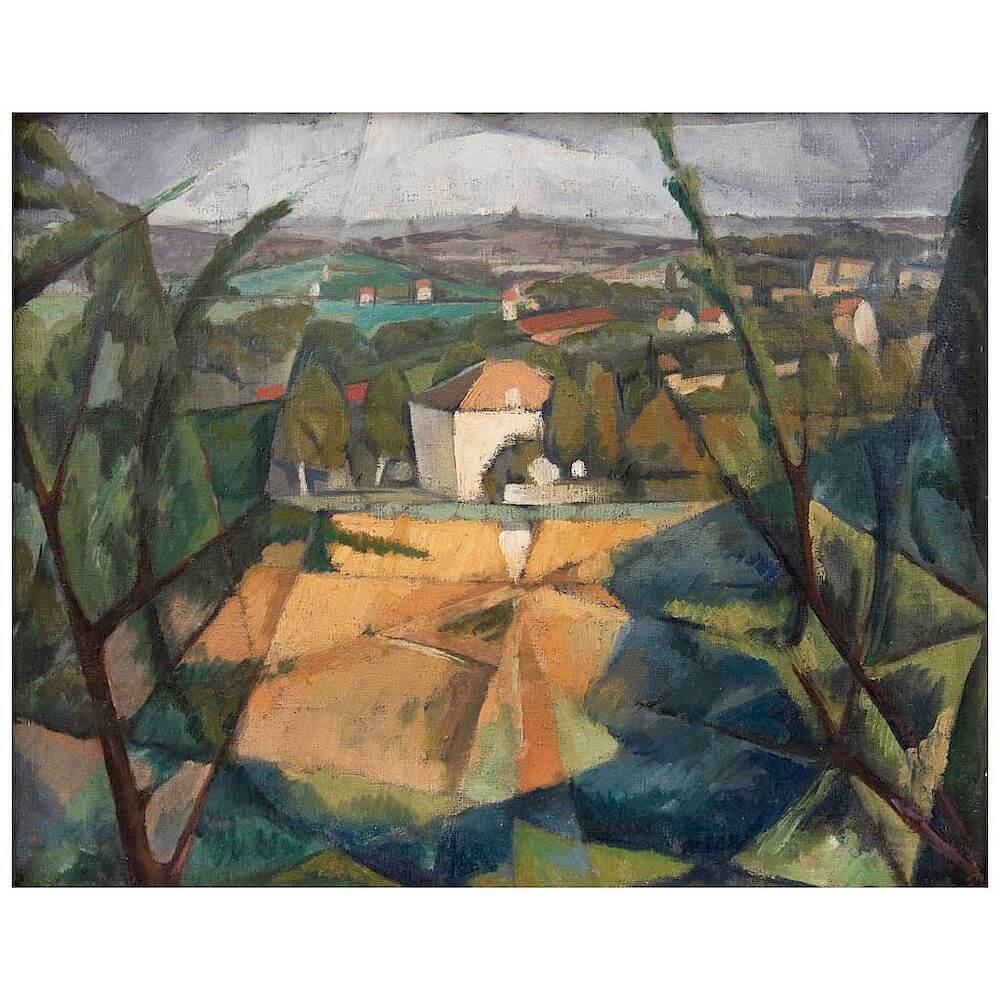 Paisaje de Fontenay de Diego Rivera