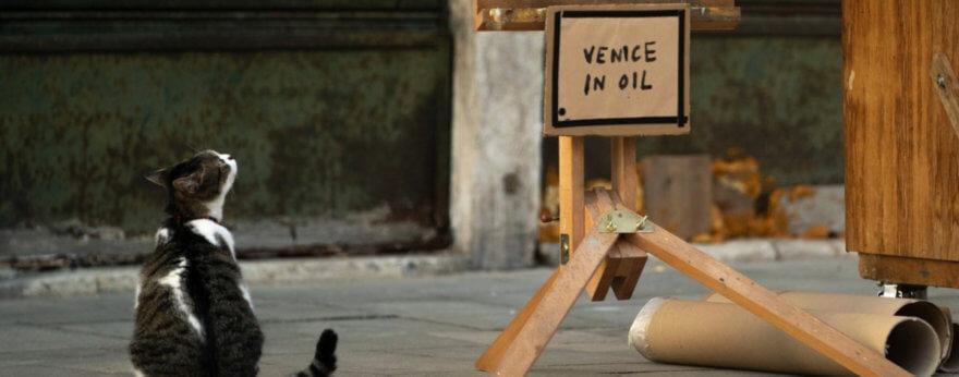 Banksy aparece con instalación en la Bienal de Venecia