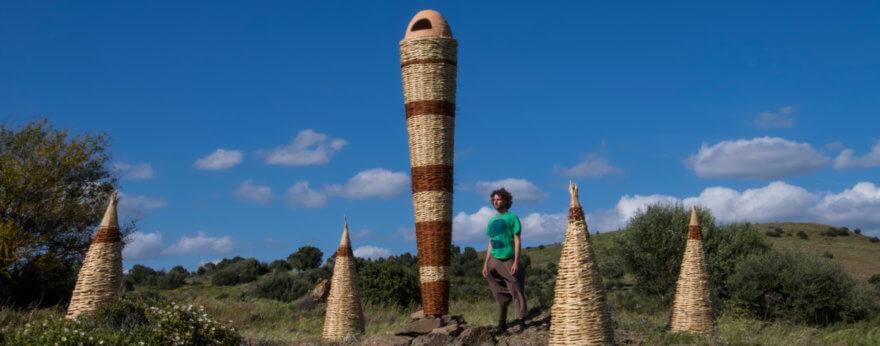 Instalación artística de Gola Hundun en CAMPIDARTE
