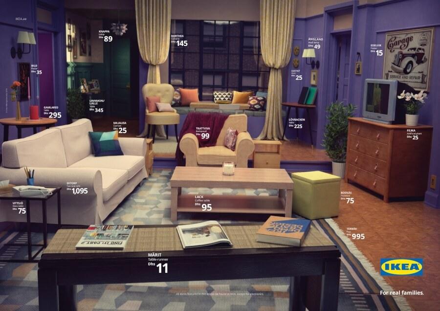 Ikea recrea salas de series icónicas