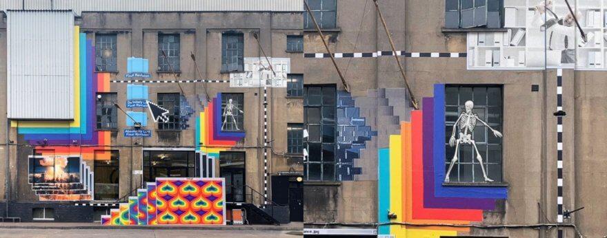INSA nos presenta su último mural titulado 'GIF-iti'