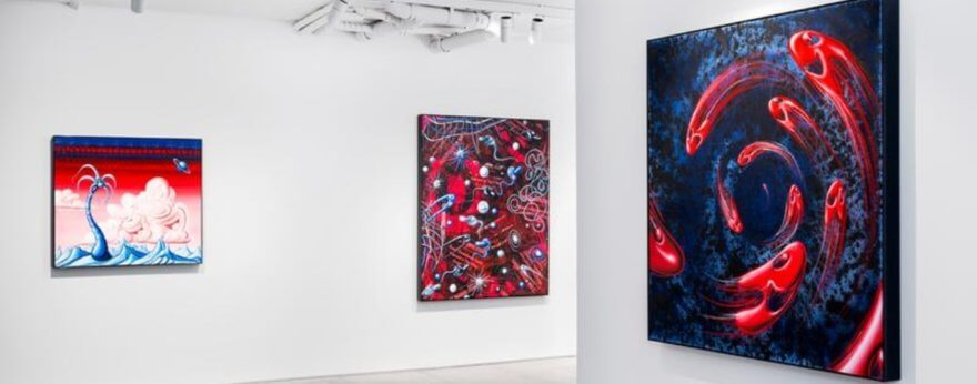 Kenny Scharf y la sangre en arte en expo «Blue Blood»