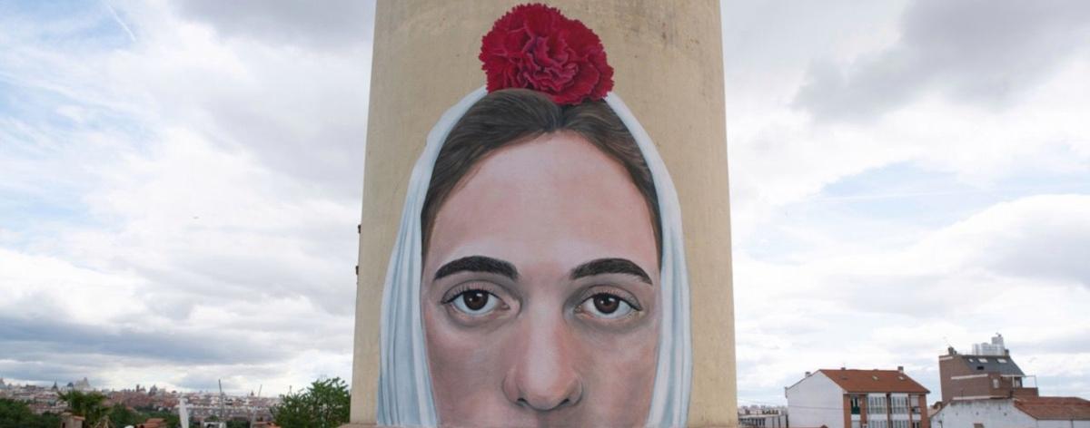 La Chulapa, el nuevo mural hecho por GERADA