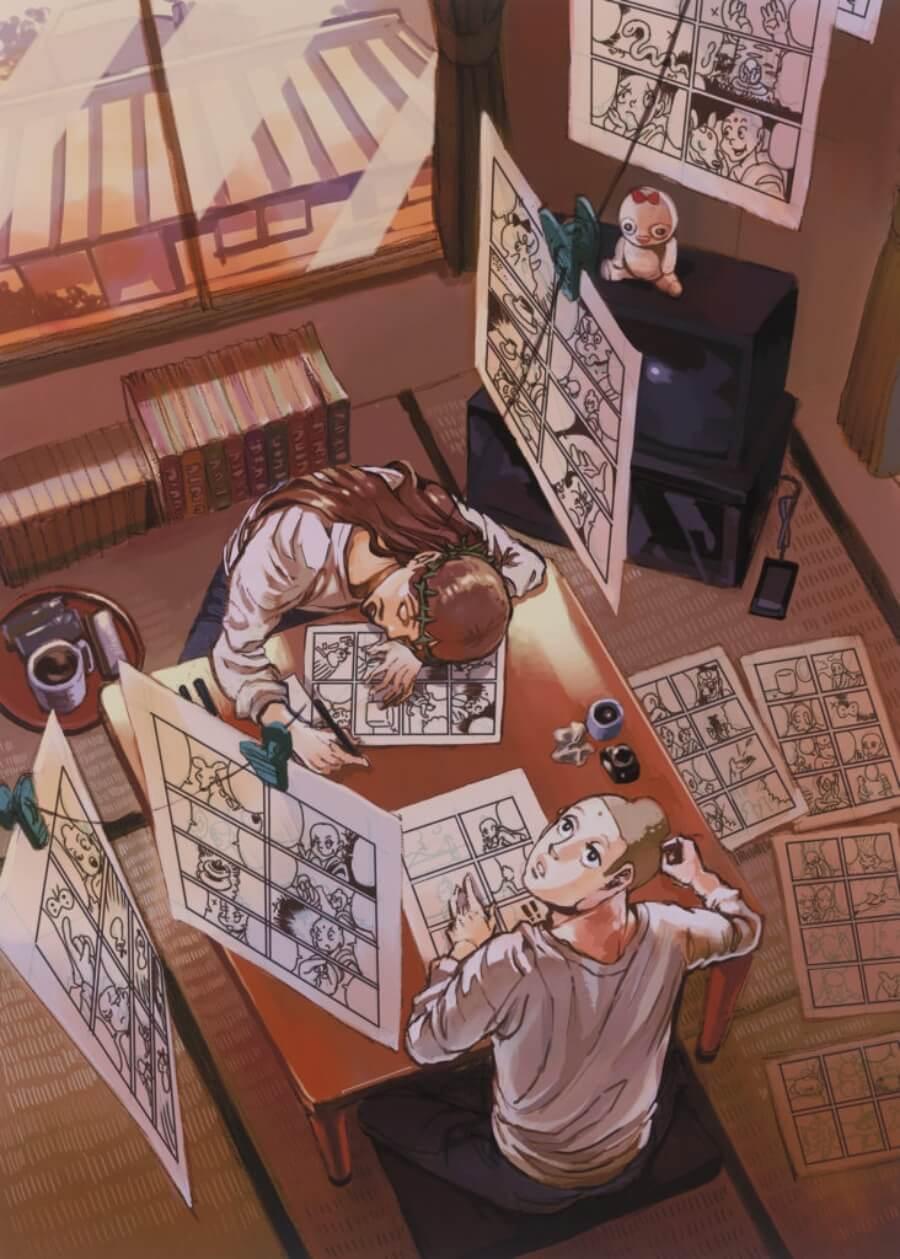 Exposición de manga en el museo británico