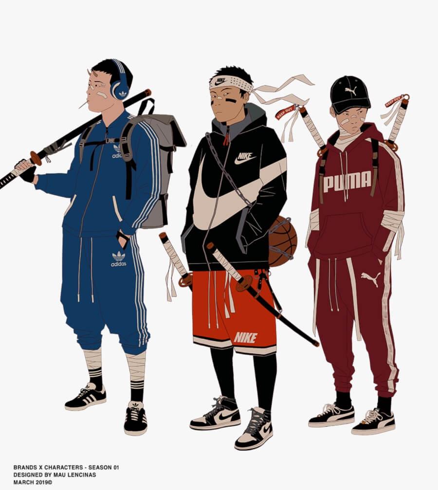 Mau Lencinas combina streetwear y anime
