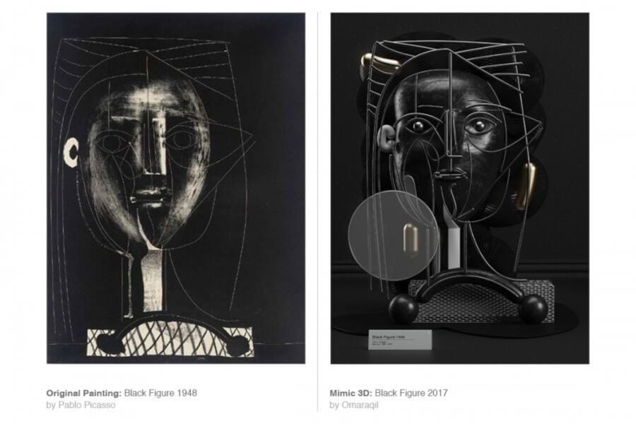 Obras de Omar Aqil reinterpretan pinturas de Picasso