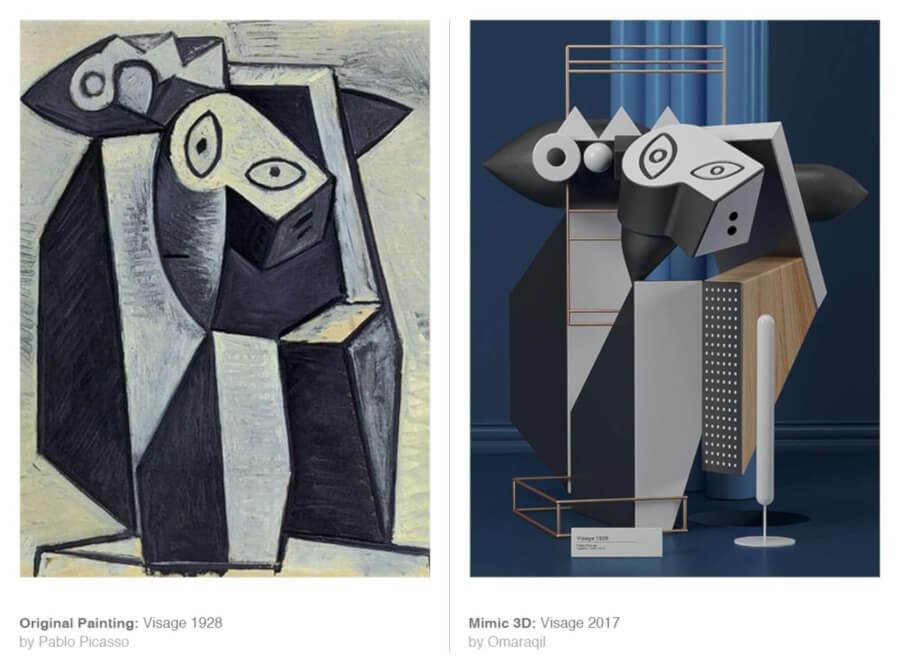 Omar Aqil reinterpreta algunas de las obras más emblemáticas de Picasso