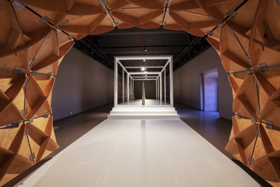 fotografía de la exposición SOM Arte+Arquitectura+Ingeniería