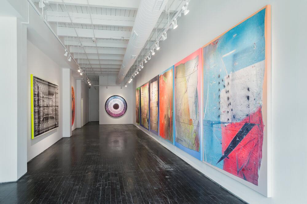 obra de Revok en su exposición individual en Library Street Collective