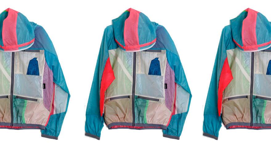 Chaquetas y backpacks hechas con parapentes