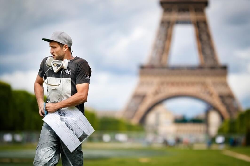 Artista Saype en París