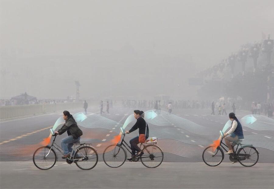 Bicicletas que absorben contaminación