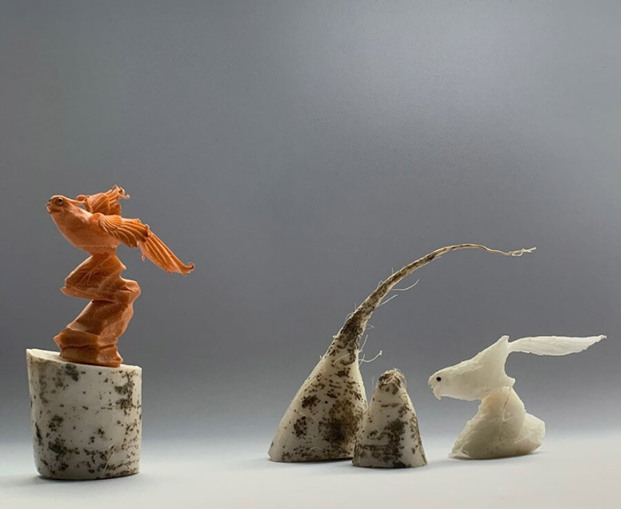 Esculturas con verdura